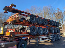 Semi remorque porte containers Van Hool STACK OF 5 PIECES 3 AS - BPW + DOUBLE BDF SYSTEM