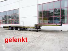 Semitrailer platta Möslein 3 Achs Tieflader für Fertigteile, Maschinen, Co