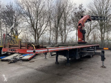 Flatbed semi-trailer 3 AS + PALFINGER PK54000D MET REMOTE CONTROL