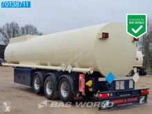 Trailer tank chemicaliën Lindner & Fischer TSA 36 LTD 34.350 Ltr. Fuel Benzin Pump Counter ADR 2x Liftachse