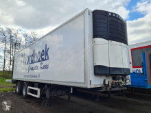Krone mono temperature refrigerated semi-trailer Koel/ Vries Carrier / Zepro Achtersluit Laadklep