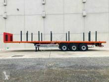 Möslein 3 Achs Plattform Auflieger mit Rungen-- Neuwert semi-trailer used flatbed