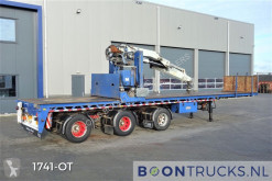 Floor flatbed semi-trailer FLUO 18 30H + HIAB R300 | 3 X STEERING * 600 CM EXTENDABLE