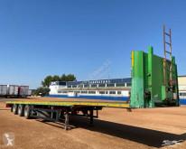 Leciñena PLATAFORMA semi-trailer used straw carrier flatbed