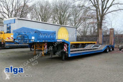 Langendorf heavy equipment transport semi-trailer SAT BUE 20/27, 2-Achser, Hydr. Rampen, gelenkt