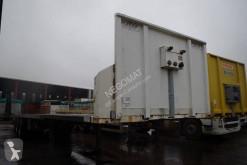 Trailer Fruehauf Plateau 3 essieux pneus en taille basse tweedehands platte bak hooiwagen