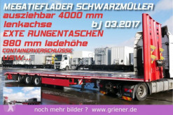 Schwarzmüller MEGA TIEFLADER 980 mm AZB LENKACHSE EXTE SAF !!! semi-trailer used heavy equipment transport