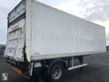 Trouillet FOURGON 1 ESSIEUX AVEC HAYON RABATTABLE semi-trailer used plywood box