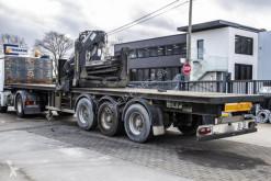 Fruehauf flatbed semi-trailer Crane/Grue/kraan HIAB R165 F2