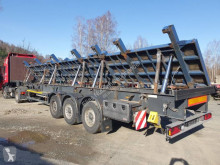 Meusburger MPS Schräglader für Stahplattentransport semi-trailer used iron carrier flatbed