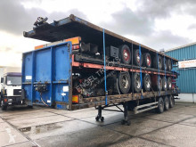 Sættevogn Pacton T3-001 WITH TWISTLOCKS (BPW AXLES / DRUM BRAKES / 1x40FT + 2x20FT) flatbed brugt