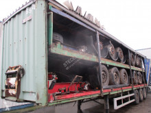 Semi remorque rideaux coulissants (plsc) Krone Stack of 5 trailers , 3x Mercedes axles, Disc brakes