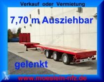 Semi remorque plateau Doll 3 Achs Tele Auflieger ausziehbar 21,30 m gelenk