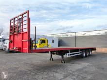 Pacton T3-001 3-Assen BPW - Trommelremmen - Stalenvloer - Zware Kantbalk + Rongen (O501) semi-trailer used flatbed