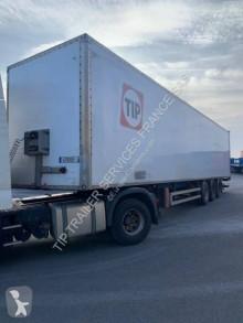 Fruehauf plywood box semi-trailer FOURGON 3 ESSIEUX AVEC PORTE RELEVABLE