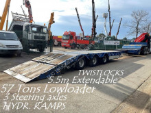 Semirremolque portamáquinas Kaiser 57T - LOWLOADER / Porte Char - 5m50 EXT. - HYDR RAMPS - AIR SUSPENSION - STEERING AXLES