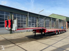 Heavy equipment transport semi-trailer Trailer | Hydraulic Ramps | 4 Axles | 3 Steering Axles