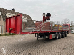 KWB P-544-STI-H 4 AXLE / HIAB 130R semi-trailer used flatbed