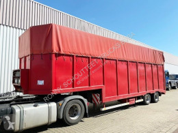 Langendorf SATUE 20/24 SATUE 20/24 mit durchgehender hydr. Rampe semi-trailer used heavy equipment transport