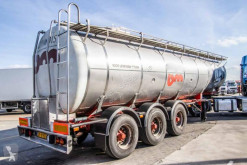 Burg CITERNE ALIMENTAIRE INOX - 31.000L ( 3 comp.) semi-trailer used chemical tanker
