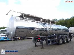 Clayton Food tank inox 23.5 m3 / 1 comp + pump semi-trailer used food tanker