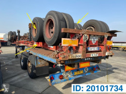 Semi remorque Fruehauf Skelet 20 ft porte containers occasion