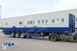 Wiese dropside flatbed semi-trailer Wiese SAH3-36 OK, Rungentaschen, Zurrösen, Stroh