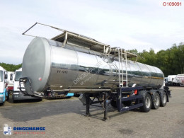 Clayton Food tank inox 23.5 m3 / 1 comp semi-trailer used food tanker