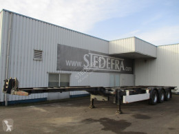 Semi remorque porte containers Pacton T3-007, 3 SAF axle container trailer , Drum brakes , air suspension