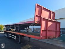 Pacton flatbed semi-trailer Platform met Twistlocks 40ft. / 2x20ft. / Rongen