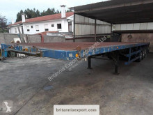 Fruehauf flatbed semi-trailer with twist locks on springs suspension