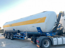 Spitzer powder tanker semi-trailer SK2760CAL 60m³ Kippsilo / Kippzylinder erneuert