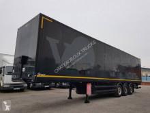 Semirimorchio Samro Fourgon 90m2 + hayon 2500 kg furgone plywood / polyfond usato