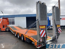 Semiremorca transport utilaje MAX Trailer semi met dubbele hydr kleppen en hydr hefbed voor heftrucks/verreikers - oranje