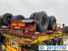 Fruehauf container semi-trailer Skelet 20 ft