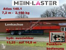 Semi remorque plateau ridelles Kran Atlas 140.1 2.150 kg- 7,2 m * Funk FB