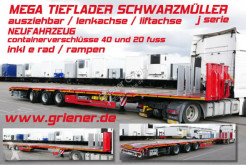 Schwarzmüller J SERIE / MEGA TIEFLADER AZB LENKACHSE LIFTACHSE semi-trailer new heavy equipment transport