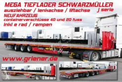 Naczepa do transportu sprzętów ciężkich Schwarzmüller J SERIE / MEGA TIEFLADER AZB LENKACHSE LIFTACHSE