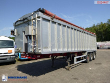 Dennison Tipper trailer alu 46.5m3 + tarpaulin semi-trailer used tipper