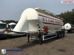 Feldbinder Powder tank alu 49 m3 / 1 comp semi-trailer used tanker