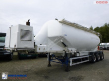 Feldbinder Powder tank alu 40 m3 + engine/compressor semi-trailer used tanker