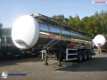 Yarı römork tank kimyasal maddeler LAG Chemical tank inox 37.5 m3 / 1 comp + pump