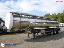 Chemical tank inox 32.6 m3 / 1 comp semi-trailer used chemical tanker