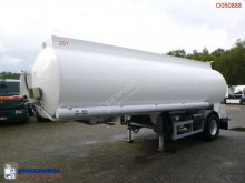 Indox Fuel tank alu 23.8 m3 / 4 comp + pump semi-trailer used tanker