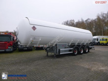 LAG Gas tank steel 48 m3 + pump semi-trailer used gas tanker