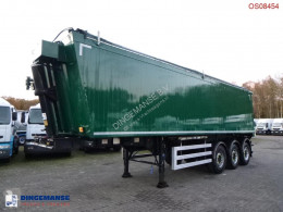 Weightlifter Tipper trailer alu 43 m3 + tarpaulin semi-trailer used tipper