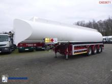 Trailer Fuel tank alu 37.6 m3 / 6 comp + Hydraulic discharge pump tweedehands tank