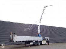 Pacton flatbed semi-trailer R23 / / KENNIS 23 t/m kraan + JIB / STENEN TRAILER