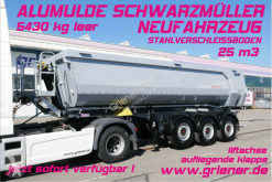 Semi reboque basculante Schwarzmüller K serie /ALUMULDE 5430 KG 25m³/ ALU/STAHLEINLAGE