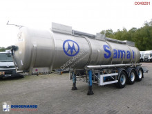 Semi remorque Magyar Chemical tank inox 21.2 m3 / 1 comp / L10CH (nitric acid) citerne produits chimiques occasion